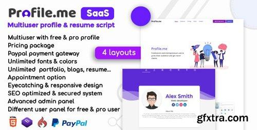 CodeCanyon - Profile.me v1.4 - Saas Multiuser Profile & Resume Script - 23743952 - NULLED