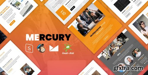 ThemeForest - Mercury v1.0 - Responsive Email Template with Mailchimp Editor, StampReady Builder & Online Composer - 24961610