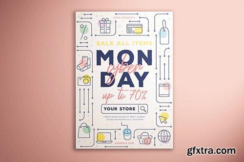 Cyber Monday Sale Flyer Vol. 01
