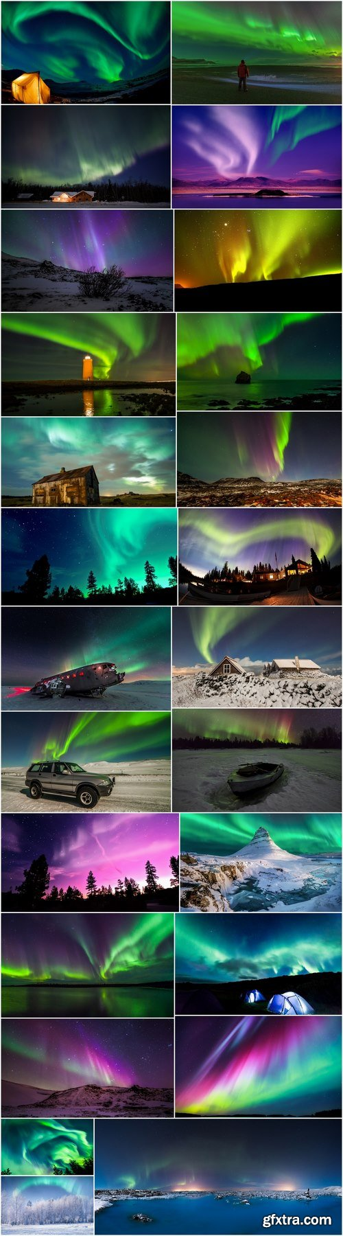 Northern lights starry sky landscape light effect travel 25 HQ Jpeg