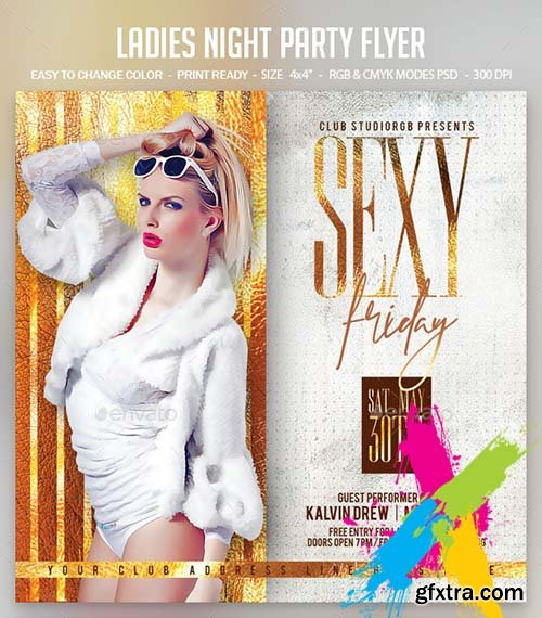 GraphicRiver - Ladies Night Party Flyer 24881820
