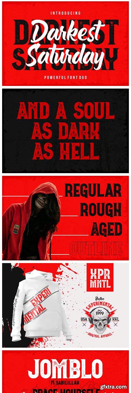 Darkest Saturday Duo Font