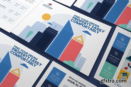 Real Estate A5 Business Flyer PSD Template