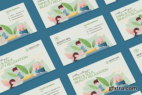 Beauty Spa Business Card PSD Template