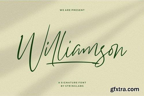 CM - Williamson - Luxury Signature Font 4297132