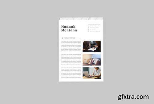 Hannah Marketing Resume Designer