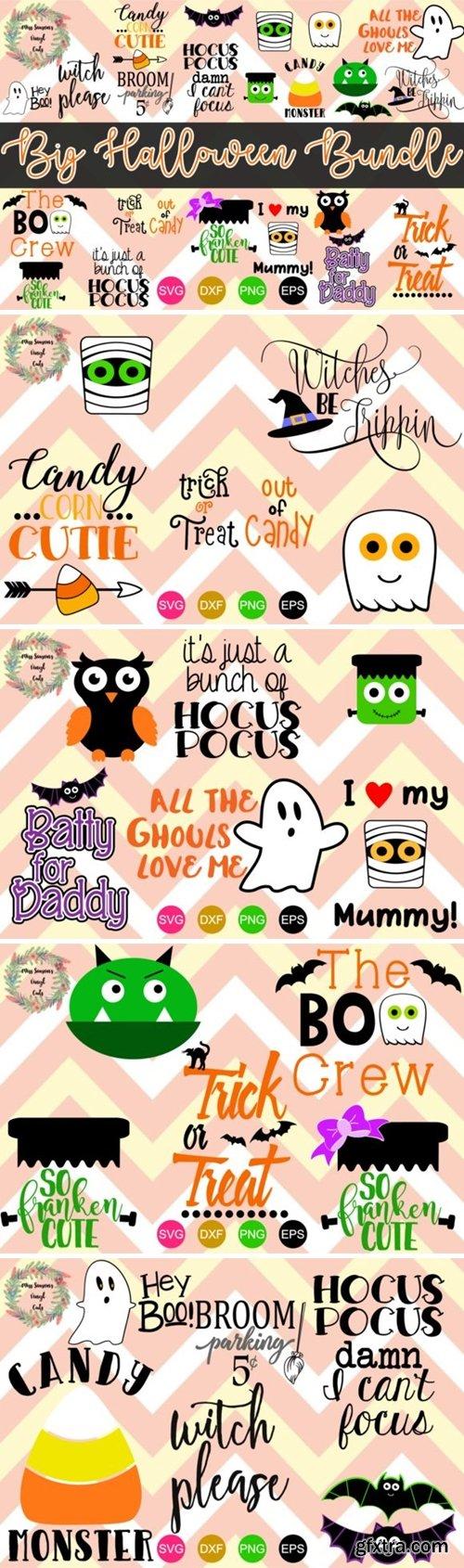 Big Halloween Bundle 22 Cut Files 2012507