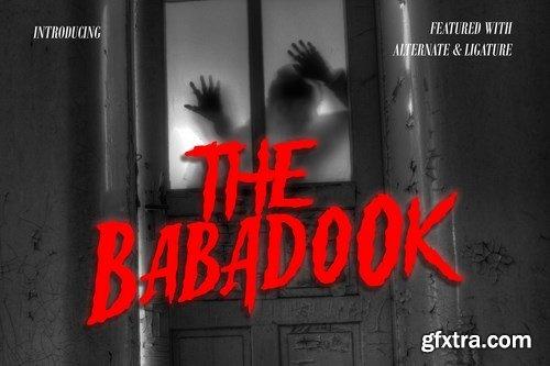 Babadook - Halloween Font