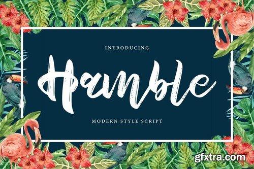 Hamble Modern Style Script Font
