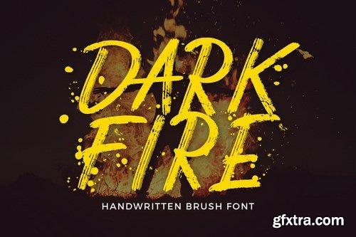 CM - Dark Fire Brush Font 4300774
