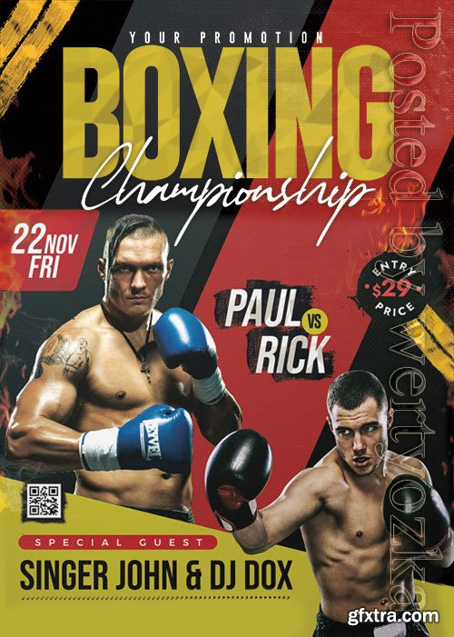 Boxing Tournament - Premium flyer psd template