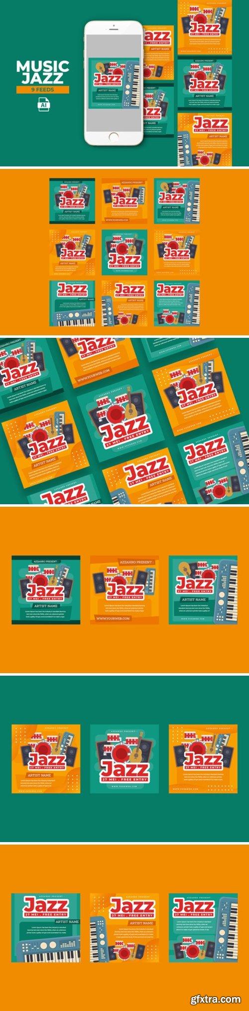 Music Jazz Instagram Templates 2013549