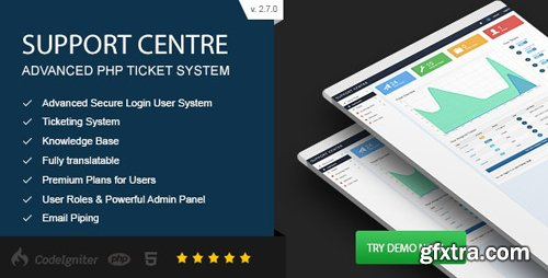 ThemeForest - Support Centre v2.7.0 - Advanced PHP Ticket System - 6431145