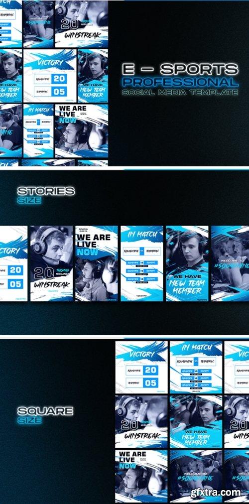 Social Media E Sport Template 2013293