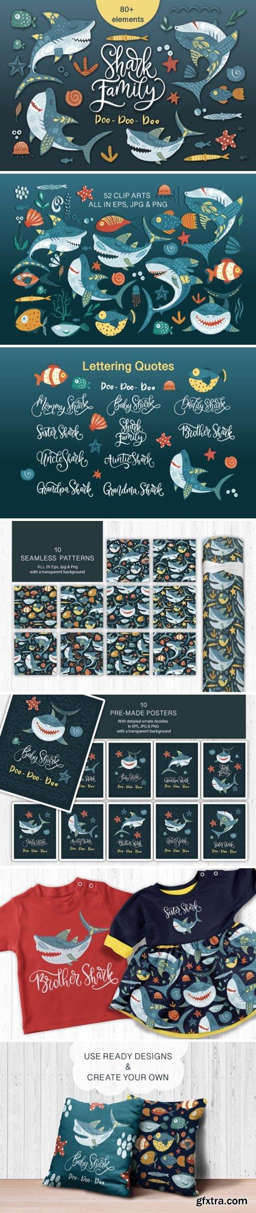 Shark Family. Do Do Do Graphic Set 2013580