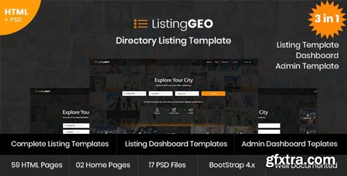 ThemeForest - ListingGEO v1.1 - Directory Listing Template - 20759180