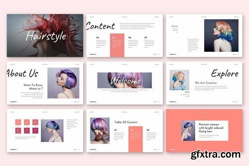 Hairstyle - Beautiful Powerpoint Template