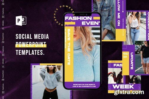 Social Media PowerPoint Templates pack