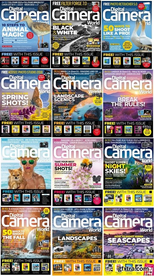 Digital Camera World - 2019 Full Year Issues Collection
