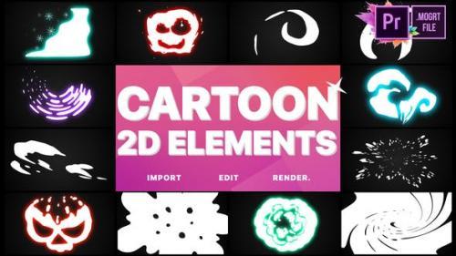 Videohive - 2D Cartoon Elements | Premiere Pro MOGRT