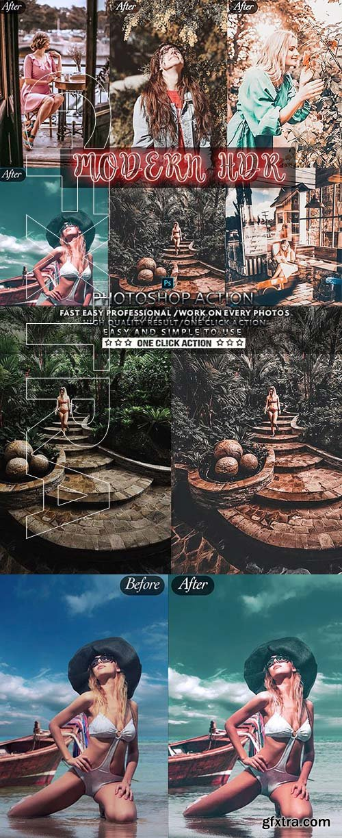 GraphicRiver - Modern HDR Photoshop Actions 24803574