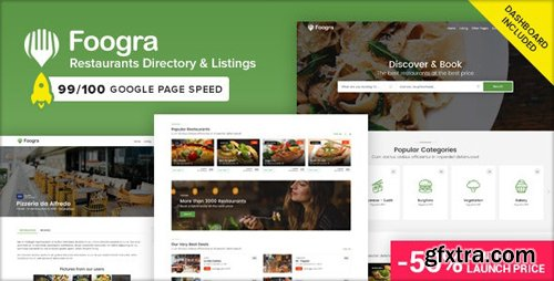 ThemeForest - Foogra v1.0 - Restaurants Directory & Listings Template - 25074949