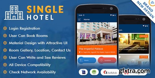 CodeCanyon - Single Hotel App with Material Design v1.1 - 20525021