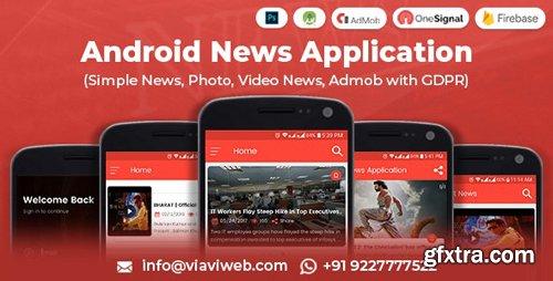 CodeCanyon - Android News Application v1.1 (Simple News, Photo, Video News, Admob with GDPR) - 8348513
