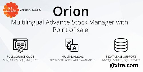 CodeCanyon - Orion v1.3.1.0 - Multilingual advance stock manager with Point of sale system - 22692552