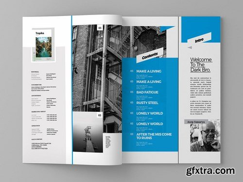 Darkuo - Magazine Template