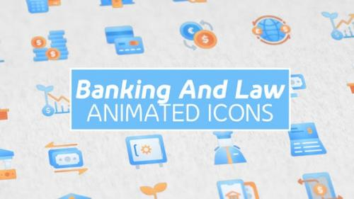 Videohive - Banking and Law Modern Animated Icons