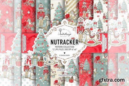 Christmas Nutcracker digital paper pack