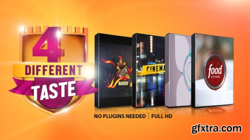 Videohive Four Different Taste logo Pack 25025595