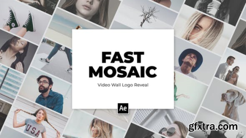 Videohive Video Wall Mosaic Logo Reveal Intro 25024089