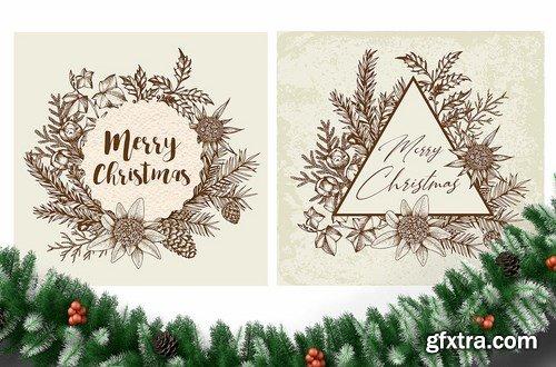 Merry Christmas Vintage Design Kit