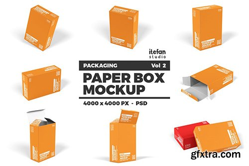 Paper Box Mockup - Packaging Vol 2