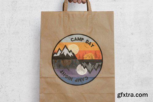 Camp Day Camping Night Adventure Logo, Retro Shirt