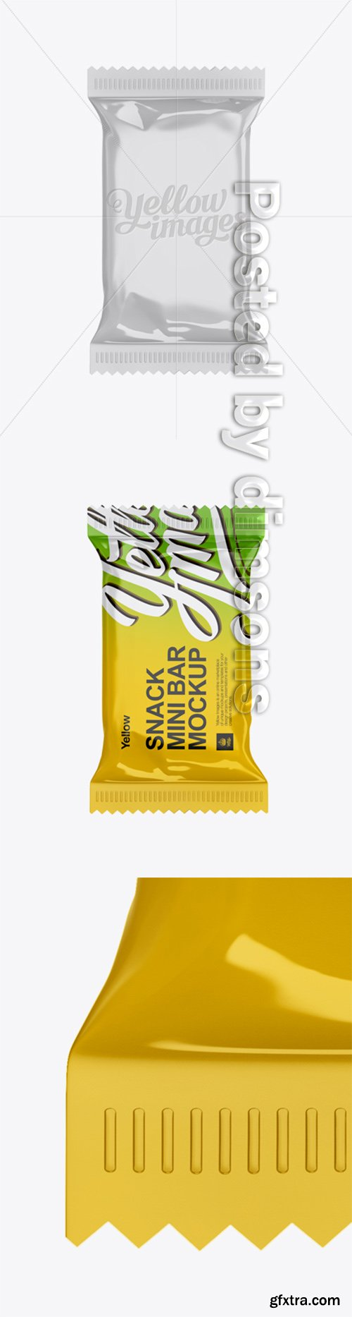 Small Glossy Snack Bar Mockup - Front View 14590