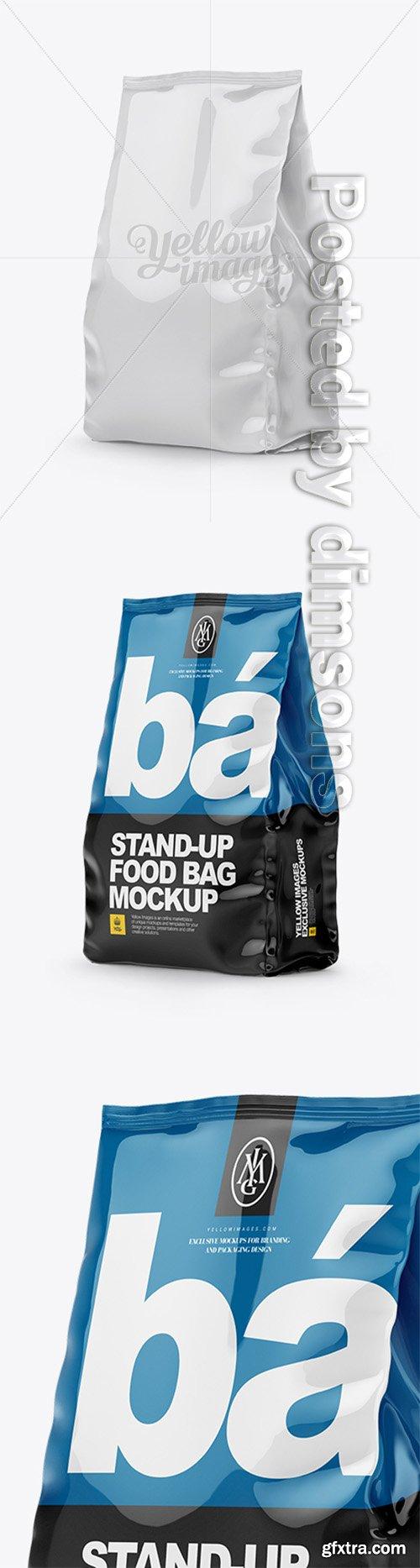 Glossy Stand-up Bag Mockup - Half Side View 14851