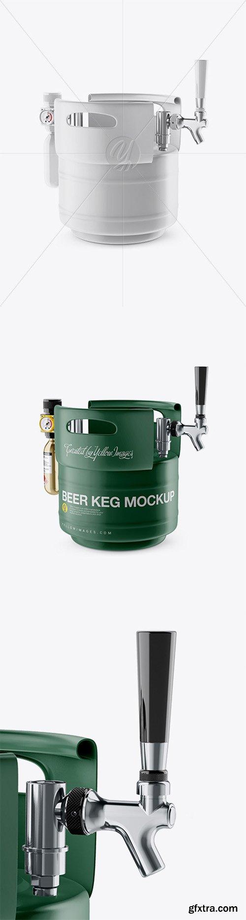 Matte Beer Keg Mockup - Half Side View 24641