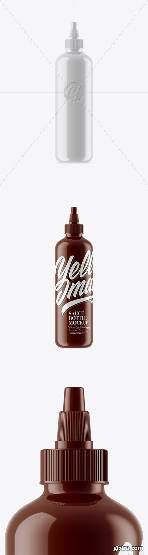 Glossy Sauce Bottle Mockup 21670