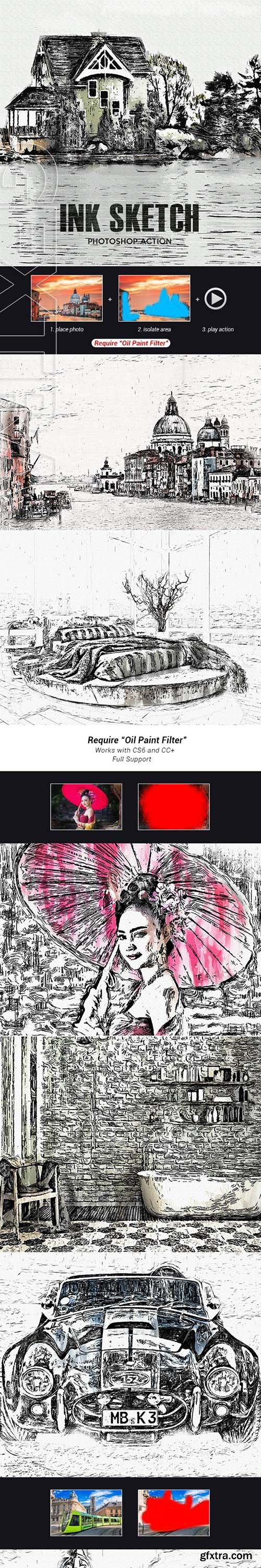 GraphicRiver - InkSketch - Photoshop Action 24747552