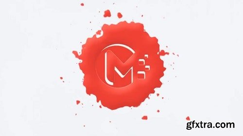 MotionArray Paint Drops Logo 324709