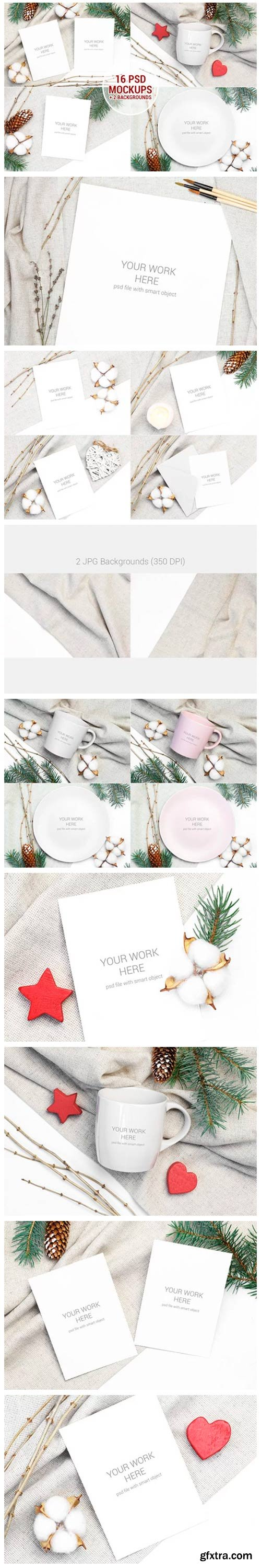 Christmas Mockups Pack with Smart Object 2029579