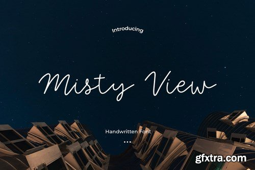 Misty View - A Chic and simple font