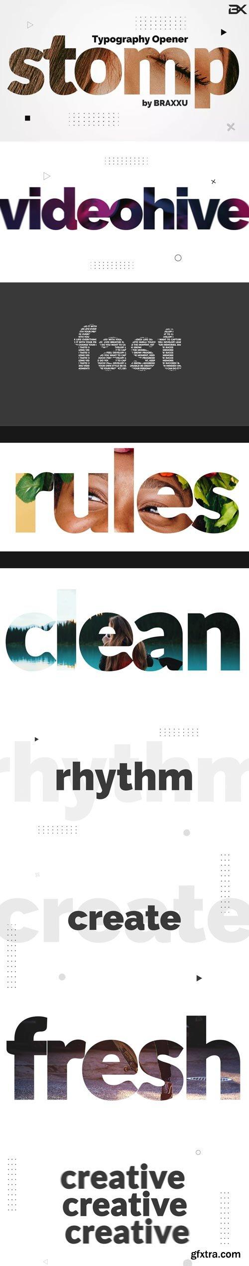 Videohive - Typography Stomp Opener - 23777352