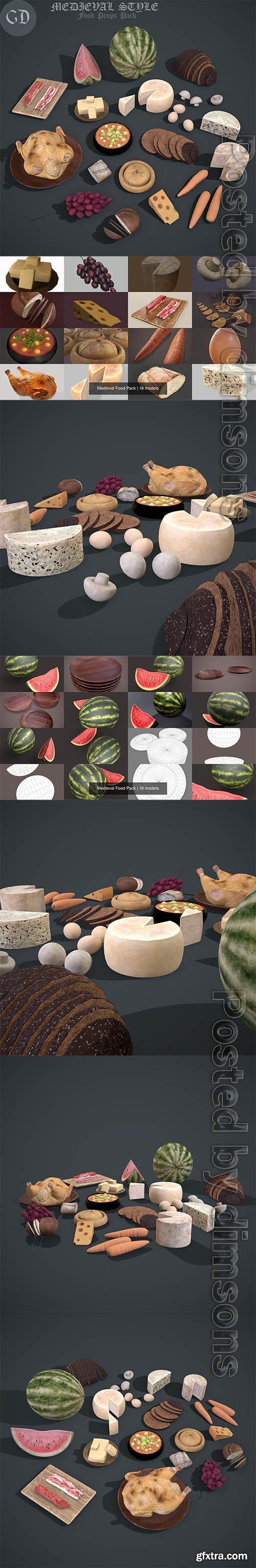 Cgtrader - Medieval Food Pack 3D Model Collection