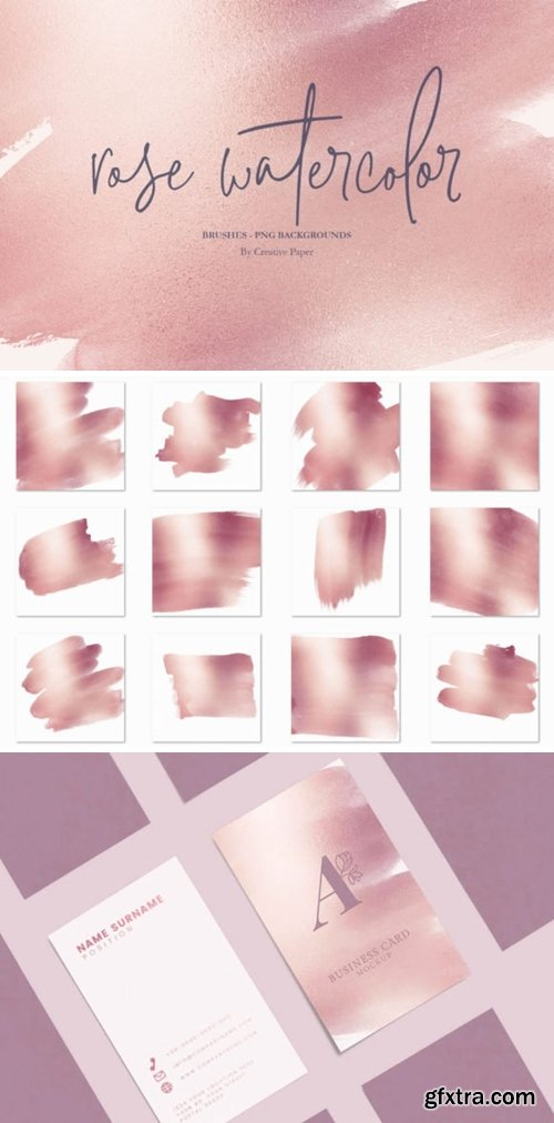 Rose Gold Watercolor Backgrounds 2040187
