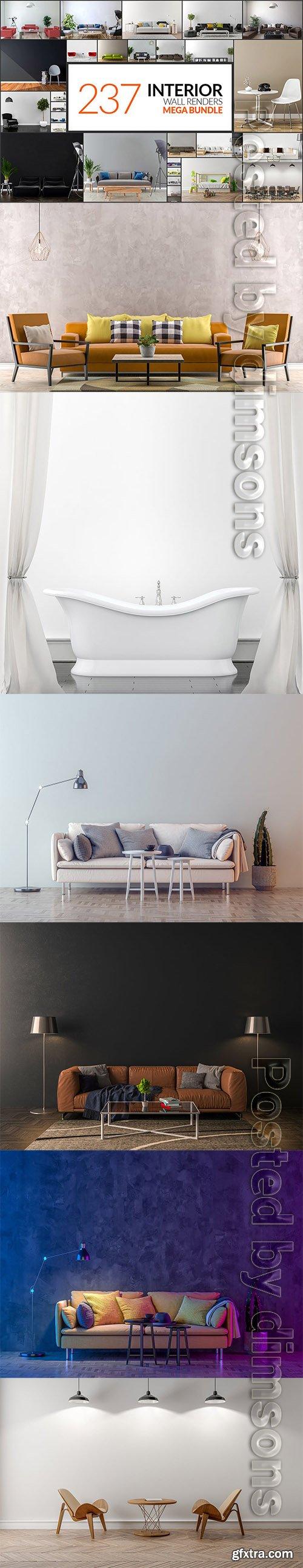 237 Interior Wall Renders - Mega Bundle