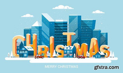 Merry Christmas and and Happy New Year cards